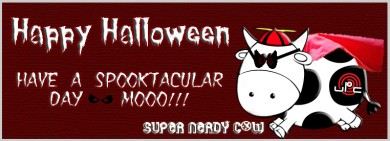 Look Up In The Sky It's A Bird, It's A Plane, No It's Super Cow... Happy Halloween!!!